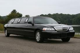 Black Stretched Limousine
